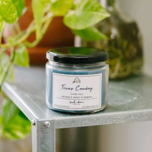 Texas Cowboy 12 oz. scented candle