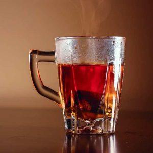 a freshly-steeped mug of sweet tea