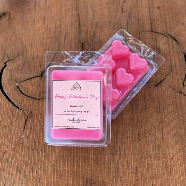 You Light Up My Life wax melt featuring heart-shaped wax pieces